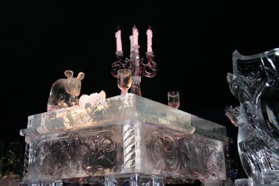 Ein Tisch aus Eis